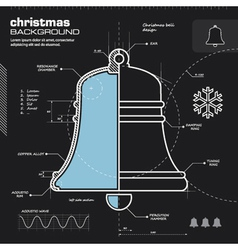Christmas bell infographic design vector image vector image