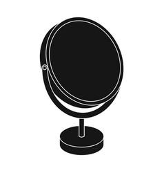 desk mirrorbarbershop single icon in black style vector image