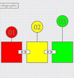 Infographic Design Modern business step banner vector image vector image