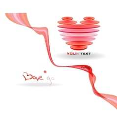 Pink abstract heart simbol vector image vector image