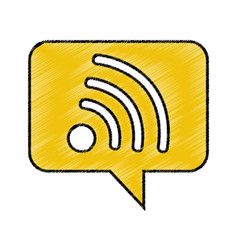 speech bubble with wifi signal icon vector image vector image
