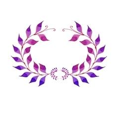 Watercolor purple plant vector image vector image