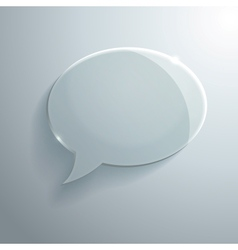 Abstract Glass Speech Bubble vector image vector image