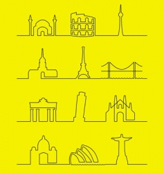 cities of the world vector image vector image