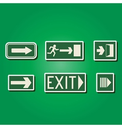 color icons with exit signs vector image