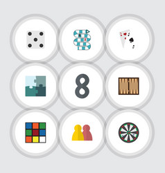flat icon play set of cube backgammon jigsaw and vector image vector image
