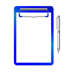 Folder with clip and pen vector
