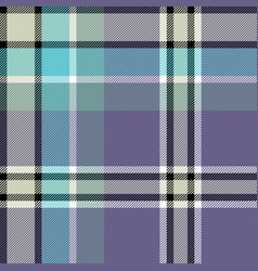 gray blue check fabric texture seamless pattern vector image