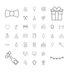 37 celebration icons vector