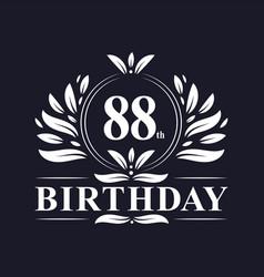 88th birthday logo 88 years birthday celebration vector