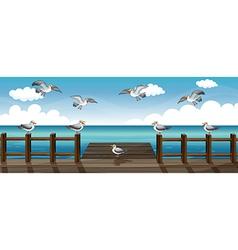 A flock of birds vector