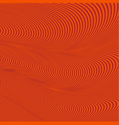abstract wavy geometric red pattern vector image