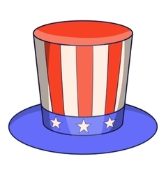 American hat icon cartoon style vector