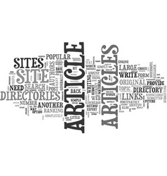 Article directories are a popular form of web vector
