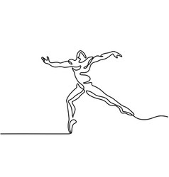 Ballet dancer man vector