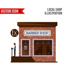 Barber shop icon isolated on white background vector