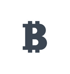 Bitcoin related glyph icon vector