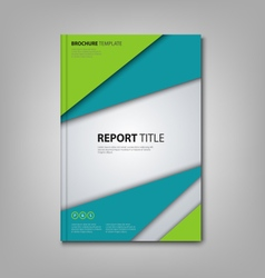 Brochures book or flyer with abstract blue green vector image