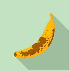 brown dot banana icon flat style vector image