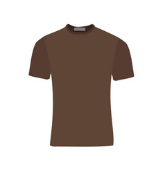 Brown t-shirt vector
