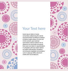 Card with geometric pattern of colored circles vector