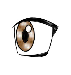 cartoon eye expression emotion image vector image