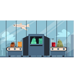 checking baggage and luggage at airport vector image