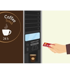 Coffee vending machine vector image