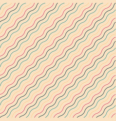 diagonal seamless wavy pattern - retro vector image