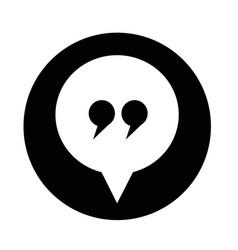 dialog icon vector image