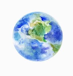 Earth watercolor art vector