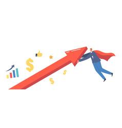 Economic recovery revival concept businessman vector