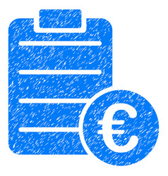 Euro pad grunge icon vector