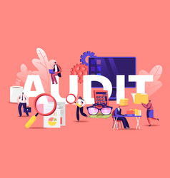 Financial administration and audit concept vector