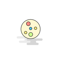 Flat bacteria plate icon vector