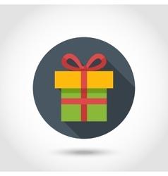 Flat Present box icon vector