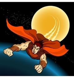 Flight of superhero vector