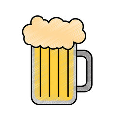 Fresh beer jar isolated icon vector