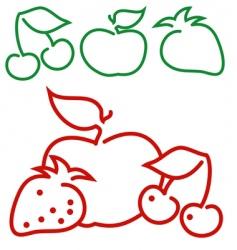 Fruit logo vector
