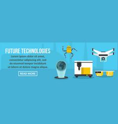 future technologies banner horizontal concept vector image