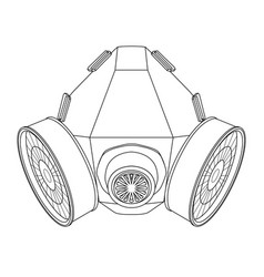 Gas mask outline drawing vector