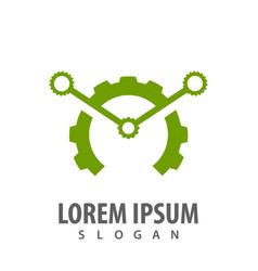 green gear logo concept design symbol graphic vector image