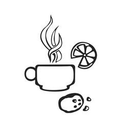 hand drawn icon cap tea vector image