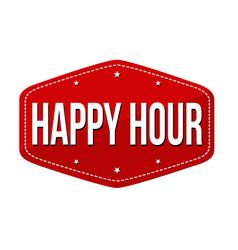 Happy hour label or sticker vector
