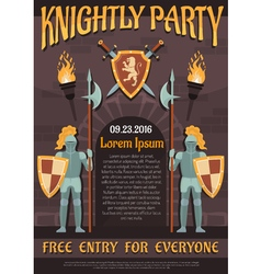 Heraldic Knight Poster vector