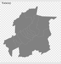 high quality map a state venezuela vector image
