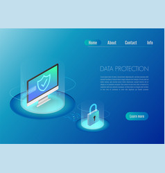 isometric design concept web banner computer vector image