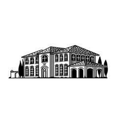 italian villa vector image
