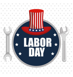 labor day poster festival national celebration vector image