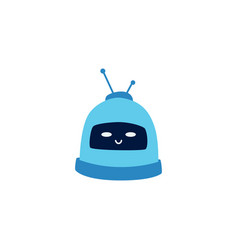 little cute robot or his head is smiling vector image
